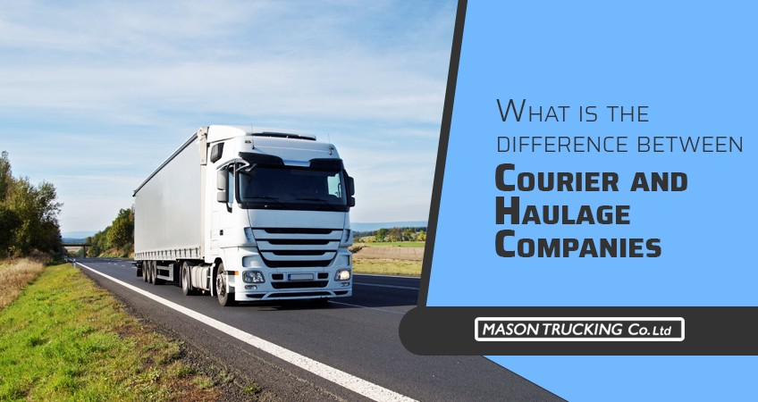 Difference between Courier and Haulage Companies
